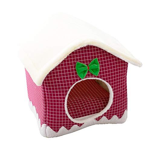 TIANPIN huisdier bed hond kat huis bed bank huisdier nest grot bed huis met afneembare kussen kerstkat Nest bed