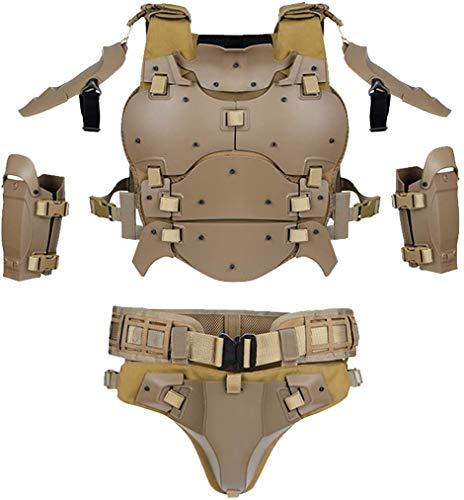 EANSSN Chaleco táctico, Armadura táctica Militar Cojines de Codo Molle Chaleco Kit para Airsoft Paintball al Aire Libre,Amarillo