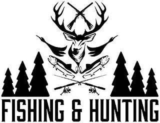 Autoaufkleber Aufkleber Fensteraufkleber Jagd Wild Sport Angeln oder Jagen weiß