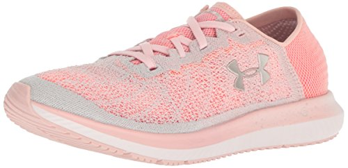 Under Armour Women's Threadborne Blur Running Shoe, Flushed Pink (601)/After Burn, 7