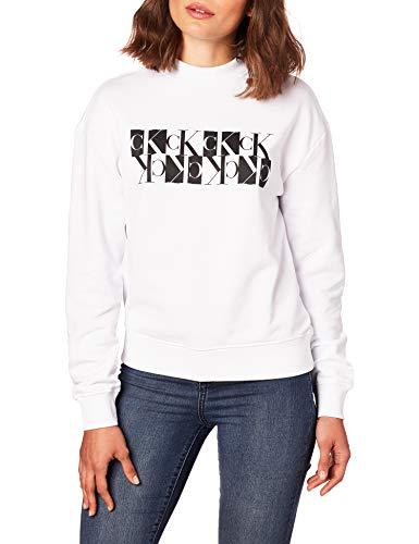 Calvin Klein Jeans vrouwen gespiegeld Monogram bemanning hals trui