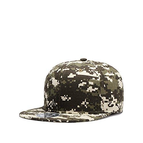 JEEDA Baseballmütze Snapback Hiphop Sport Hut Einstellbare Kappe Mütze Unisex Flat Brim Baseball Camouflage Cap für Damen Herren XXMC