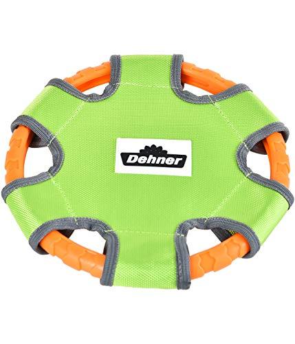 Dehner Hundespielzeug Frisbee Pitch, Ø 23 cm, Oxford-Baumwolle, grün/orange