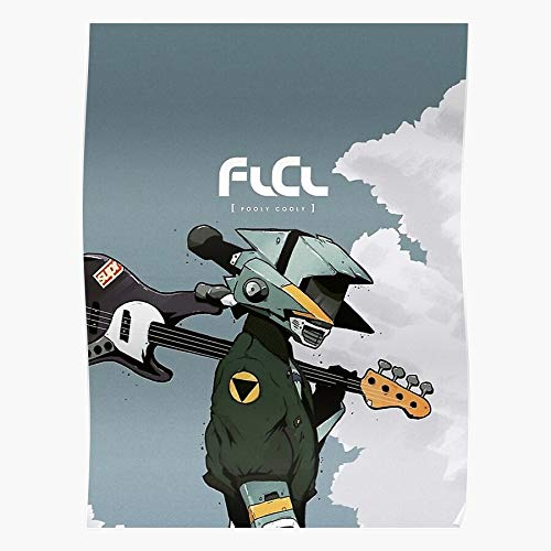Animation FLCL Naota Guitar Anime Cooly Rolbox Canti Fooly The Best and Style Home Decor Wall Art Print Poster