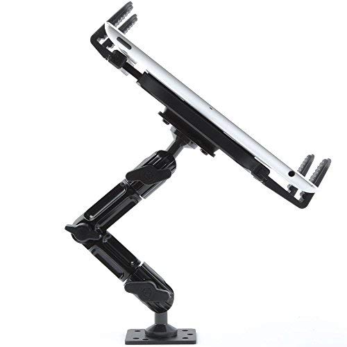 Industrial Metal Drill Base Tablet Mount - By TACKFORM [Enduro Series] - iPad Holder for wall or truck. ELD Mount | Compatible with iPad Mini, IPad Pro 12.9, Galaxy S, Surface Pro & Switch