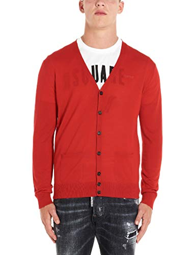 Luxury Fashion | Dsquared2 Heren S74HA0991S16794305 Rood Wol Vesten | Herfst-winter 19