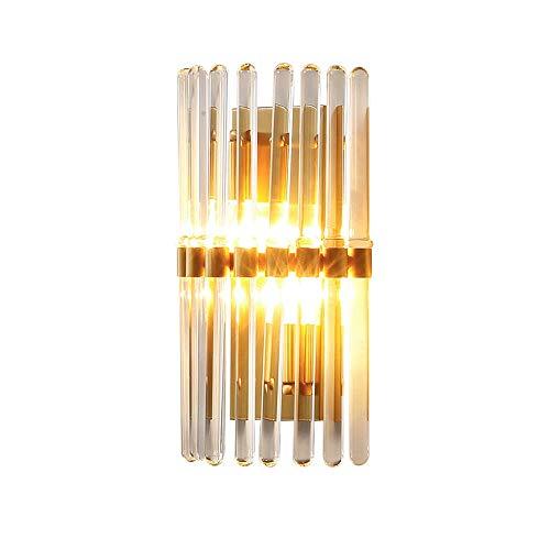 Siet Moderne Kupfer-Wand-Leinwand-Lichtglas-Schatten-einfache Wandlampe, nordische Wandwäsche-Lichter für Aisle Schlafzimmer Wohnzimmer Büro-Dekoration Beleuchtung,...