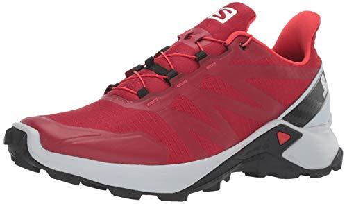 Salomon Men's Supercross Trail Running Shoes, Red Dahlia/Pearl Blue/Black, 11