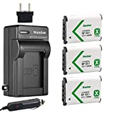 Kastar Battery (3-Pack) and Charger for Sony NP-BX1 M8 Acc-TRBX and Cyber-Shot DSC-HX50V HX300 RX1 RX1R RX100 RX100M RX100M3 WX300 HDR-AS10 AS15 AS30V AS100V AS100VR CX240 MV1 PJ275 DSC-HX99 Cameras