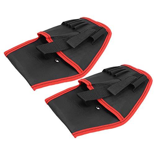 KUIDAMOS Bolsa de cinturón de Herramientas para Taladro eléctrico de 2 uds(Red Edge)