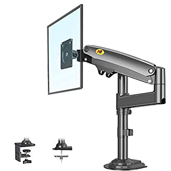 NB North Bayou Monitor Desk Mount Long Arm for 22  -35  Monitors from 6.6 to 26.4lbs Ultra Wide Full Motion Swivel Height Adjustable Monitor Stand H100-B