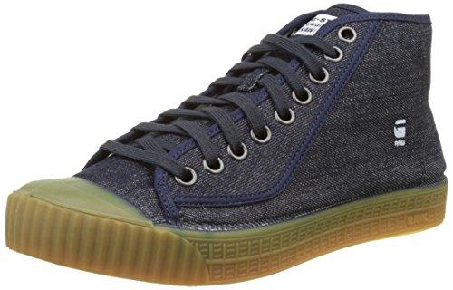G-STAR RAW Rovulc Denim Mid Sneakers, Zapatillas Hombre, Azul (Blue (Dk Navy 881) 881), 46 EU