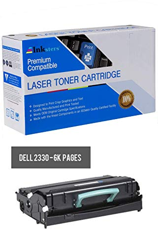 Inksters Compatible Black Toner Cartridge Replacement for Dell 2330 2330D 2330DN 2350 2350D 2350DN - 330-2666 330-2667