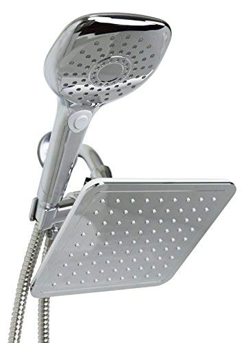 Sunbeam 5 Function Dual Shower Massager with Rainfall Head Set