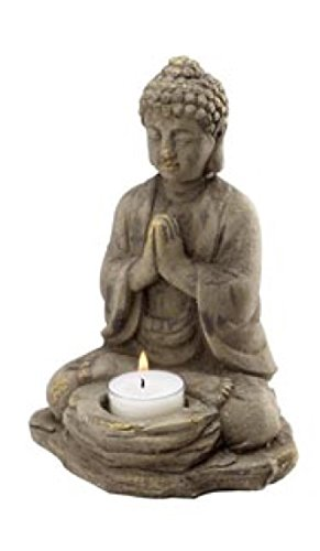 Biedermann & Sons Stone Buddha Tealight Holder