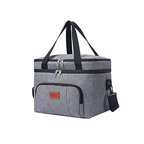 Vin Beauty Bolsa de picnic Paquete de entrega de alimentos, bolsa de aislamiento térmico portátil para llevar, bolsa de aislamiento térmico para acampar al aire libre, barbacoa actividades familiares