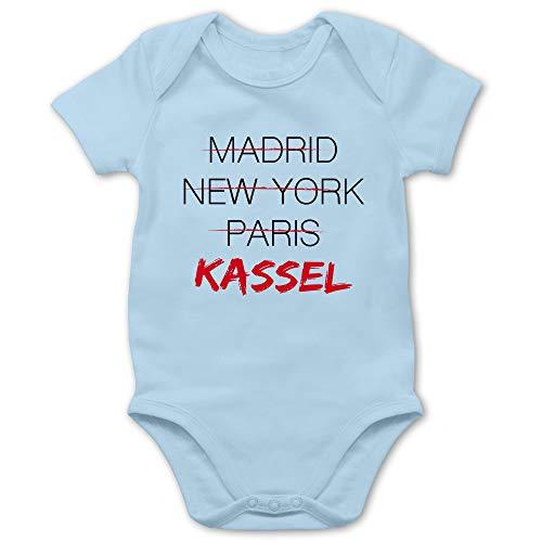 Städte & Länder Baby - Weltstadt Kassel - 12/18 Monate - Babyblau - Baby_Body_Kurzarm_BZ10 - BZ10 - Baby Body Kurzarm für Jungen und Mädchen