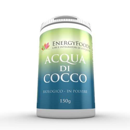 Acqua di cocco / Biologica in polvere, Ricca di elettroliti, Vegana e Senza Glutine, confezione da 150g / Organic Coconut Water, Vegan and Gluten Free