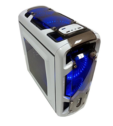 Cortek Gravity Torre Blanco Carcasa de Ordenador - Caja de Ordenador (Torre, PC, Micro-ATX, Blanco, Verde, Frente, Superior)