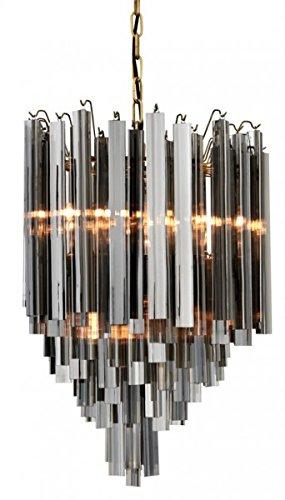 Casa Padrino Luxus Hängeleuchte Eiszapfen Smoke Glas - Art Deco Hotel/Restaurant Lampe - Eindrucksvolle Leuchte