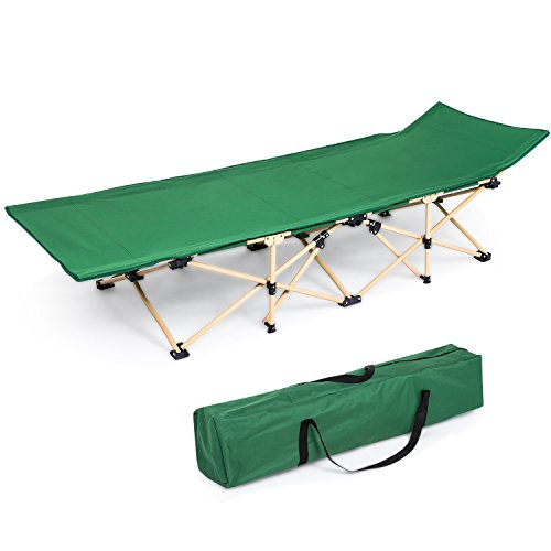 ANCHEER Folding Bed Camping Cot, Portable Easy Set Up Sleeping Cot with Carry Bag for Outdoor Home Office