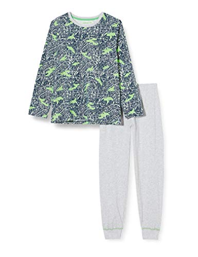 Sanetta Jungen Schlafanzug lang blau Pyjamaset, Blue Teal, 152