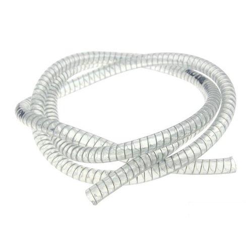 Kühlwasserschlauch Motoforce, transparent, mit Stahlspirale, d=9x15mm, 1 Meter (für Ausgleichsbehälter)