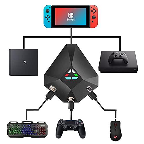 PrimeDayセール NINGMEI ゲーミングキーボード マウス コンバーター セット ゲームコンバーター ゲーミングコントローラー変換 操作簡単 コンパクト USBハブ Windows/MacOS/Nintendo Switch/PS4/PS3/Xbox One対応 日本語説明書 ブラック (コンバーター)