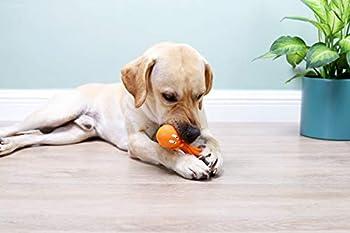 Jouets pour chiens, 3 jouets à mâcher en caoutchouc naturel, balle pour chien indestructible, jouets pour chiens durables en caoutchouc naturel, sûrs et non toxiques