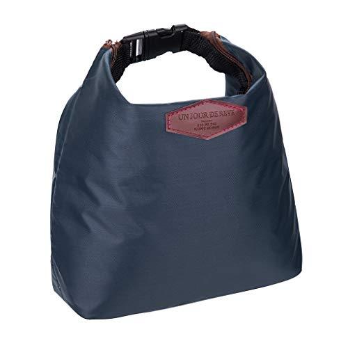 HWTOP Zubehör Lunchtasche Wasserdichte Lunchpaket Wärmekühler Isolierte Lunchbox Brotdose Tragbare Handtasche Tragetasche Picknickbeutel, Marine