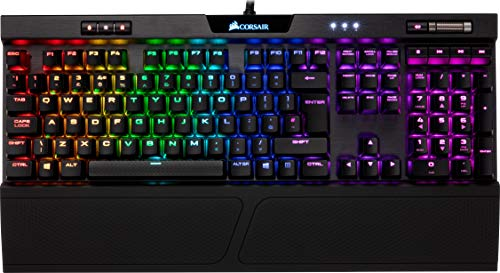 Corsair K70 RGB MK.2 Teclado Mecánico Gaming, Cherry MX Blue, Preciso y Audible, Retroiluminación Multicolor LED RGB, Estructura de Aluminio Anodizado, QWERTY Español, color Negro