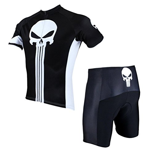 Uriah Men's Cycling Jersey and Shorts Sets Short Sleeve Punisher Size XL(CN)