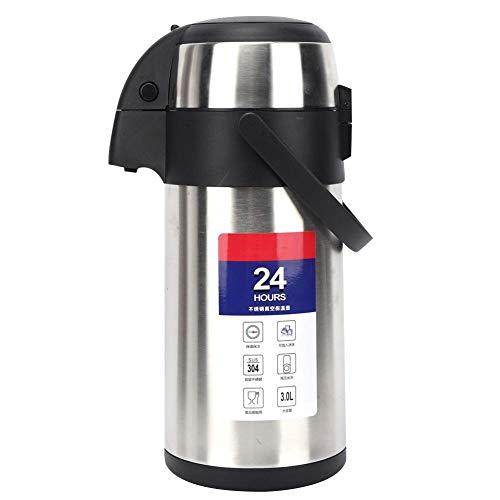 Termo de acero inoxidable, 3L de gran capacidad Tipo de presión de aire Jarra de vacío térmica Olla de agua aislada