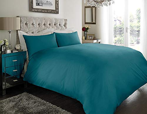 sleepdove EGYPTIAN COTTON 200 COUNT BEDDING SETS DUVET COVER SET (QUILT COVER WITH PILLOW CASES (Double, Teal)
