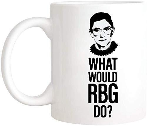 Lplpol - What Would RBG Do? | Ruth Bader Ginsburg | Supreme Court | Scotus | Feminist | Kaffeeliebhaber Kaffee Tee Tasse 325 ml Keramik Kaffee Tee Tasse/Teetasse, Hochglanz