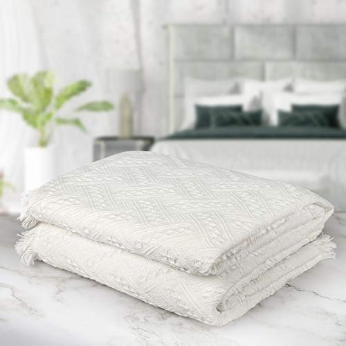 Multifunktionales Sofa-überwurf ,Tagesdecke, Sofabezug Größe 3 Sitze 180X300cm, weiß