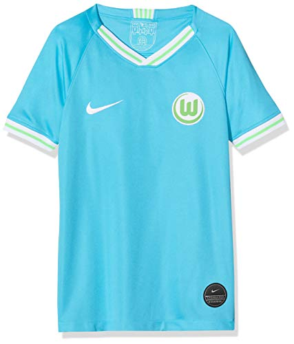 NIKE Vflw Y Nk BRT Stad JSY SS AW Camiseta Fútbol, Unisex niños, Chlorine Blue/(White) (no Sponsor), S