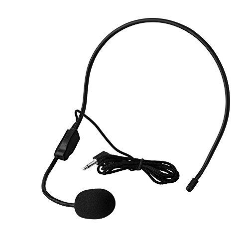 Microphone, micrófono de condensador, micrófono con diadema profesional de 3,5 mm Jack audio para presentación, discurso, guía turística, karaoke, clase (2 unidades)