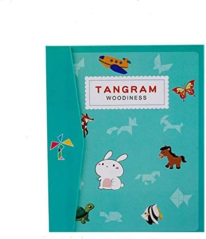 Wooden Tangram for Kids Magnetic Travel Pattern Puzzle Block Easel Book Brain Teasers Stacking product image