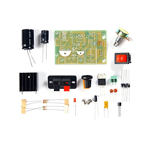 GAOHOU LM317 Voltaje Regulable Ajustable Módulo de Fuente de alimentación descendente Kit de Bricolaje