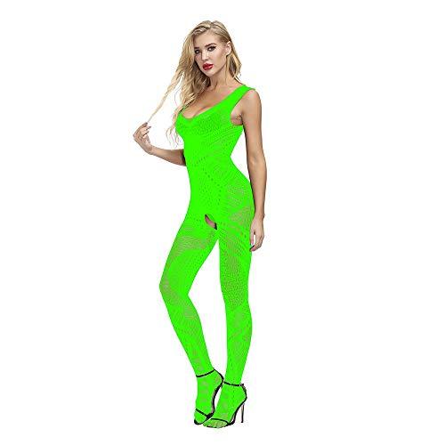 Dessous-Body Straps Bodystocking Netz Blumenmuster Bodysuit Nachtwäsche Dessous Sexy Netz Catsuit feine Spitze Overall Enge Kleidung,Party-Kleidung Strumpfhosen Nachtbekleidung Unterwäsche für Frauen