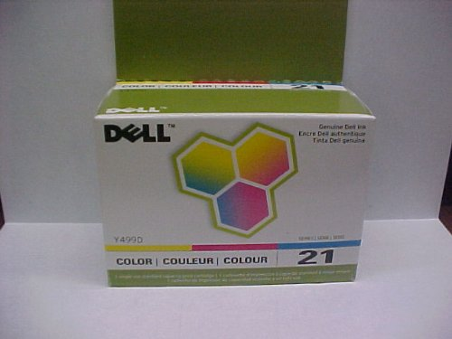 New Genuine Dell Y498 Tri-Color Ink Cartridge Series 21 Retail Box; V313W P713W