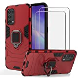 BestShare For OPPO Find X3 Lite 5G Case with Tempered Glass