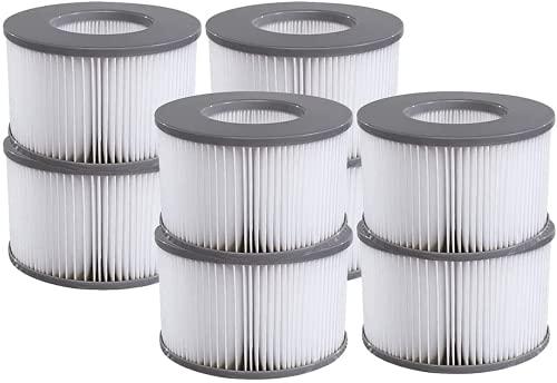 JSHD - Cartucce di ricambio per vasche idromassaggio, filtri per MSPA FD2089, pompa a cartuccia per filtri MSPA per tutte le vasche idromassaggio attuali (8 pezzi)
