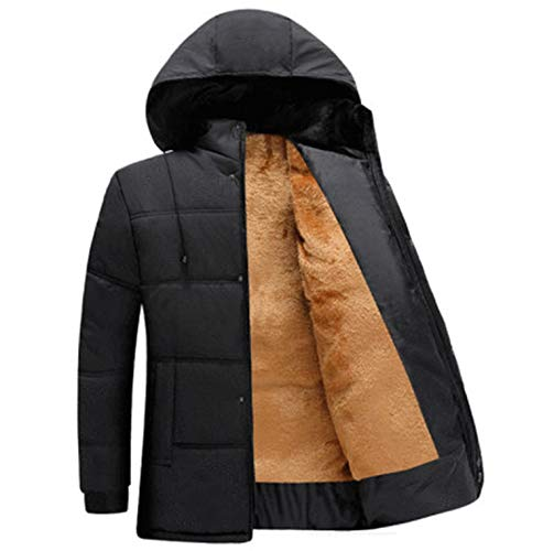 Skr Phone Case New 2020 Autumn Winter Men Middle Aged and Elderly Thickened Thermal Cotton Padded Jacket Coat,3,XXL (70Kg-80Kg)