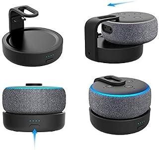 GGMM D3 Base de bateria Alexa Echo Dot 3ª geração, Tornar Amazon Dot3 portátil, Pode jogar por 7 horas, Preto 5200mAh (Ape...