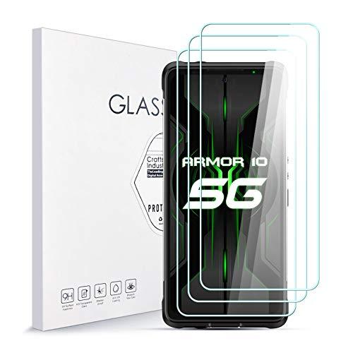 Protecteur D'écran pour Ulefone Armor 10 [3 pièces] de Haute Qualité 9H en Verre Trempé Résistant à la Rayure Protecteur D'écran Convivial Anti-Bulles Facile à Installer Support 3D