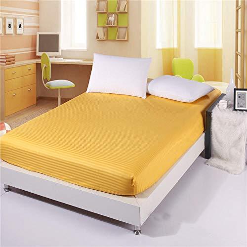 JKCTOPHOME Sábana bajeras Ajustable tamaños y Colores,Home Simple Color sólido sábana Hotel Protector de colchón-A_180 * 220 * 25cm,Banda elástica Sábana Ajustable