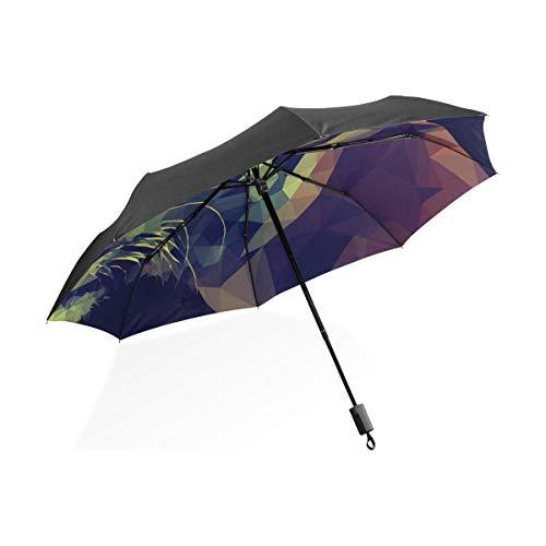 XiangHeFu Paraguas Tiger Shape 3 Pliegues Ligero Anti-UV