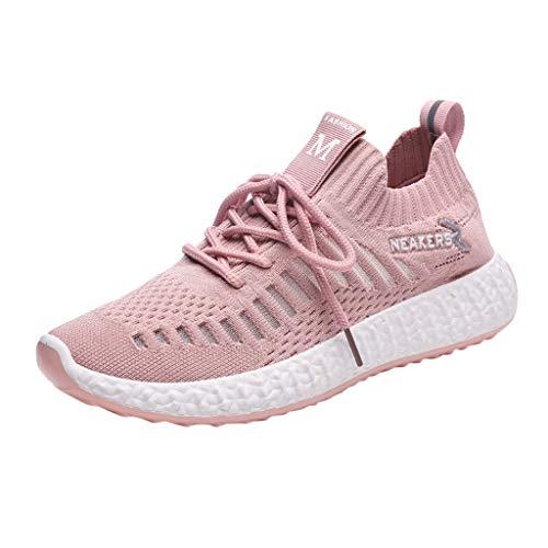Zapatos Mujer,ZARLLE Zapatillas Running Mujer Zapatillas Deportivas Mujer De Cordones En Gimnasio...